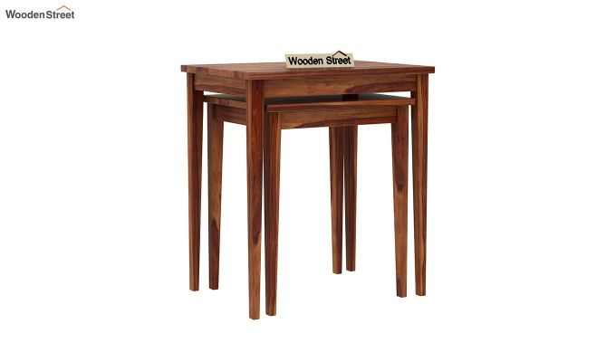 Shelagh Nest of Tables (Teak Finish)-3
