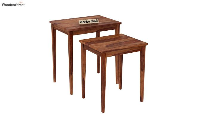 Shelagh Nest of Tables (Teak Finish)-4