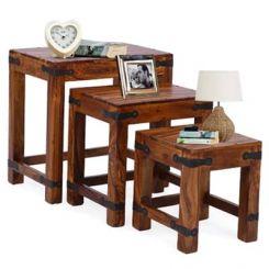 Sweetfall Nest Of Tables (Honey Finish)