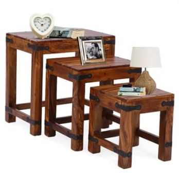 wooden nest of table online