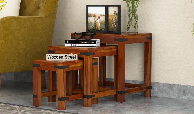 Sweetfall Nest Of Tables (Honey Finish)-1