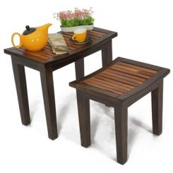 Toohey Table Sets (Mahogany Finish)