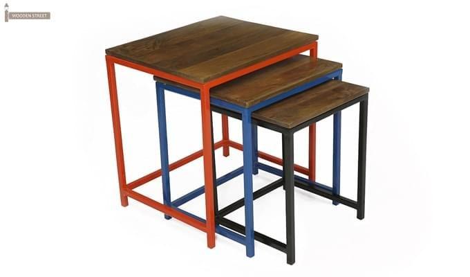 Trott Iron Nest Of Tables (Teak Finish)-4