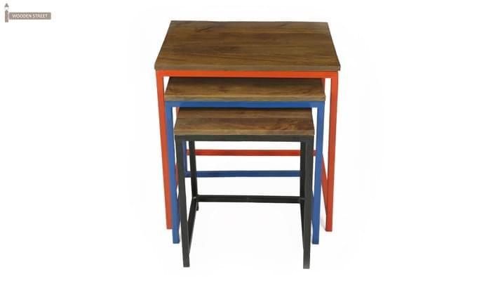 Trott Iron Nest Of Tables (Teak Finish)-5