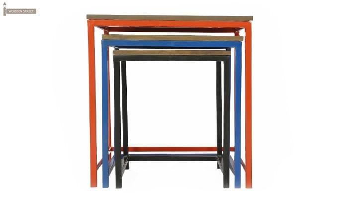 Trott Iron Nest Of Tables (Teak Finish)-6