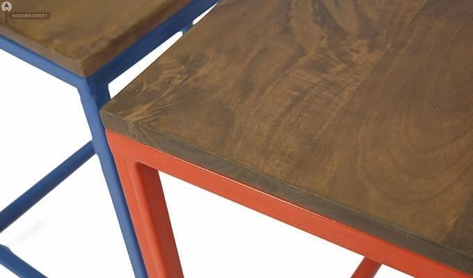 Trott Iron Nest Of Tables (Teak Finish)-7