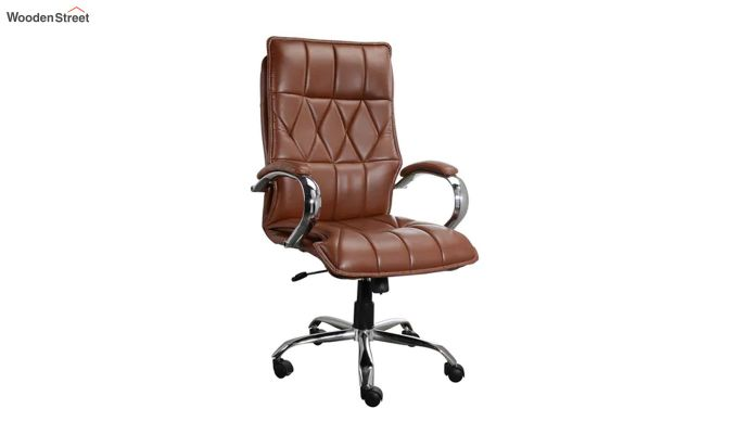 Camelo Krita Leatherette High Back Brown Executive Chair-1