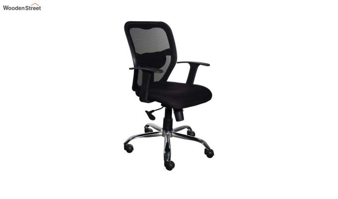 Correa Mid Back Black Ergonomic Office Chair-1