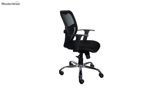 Correa Mid Back Black Ergonomic Office Chair-4