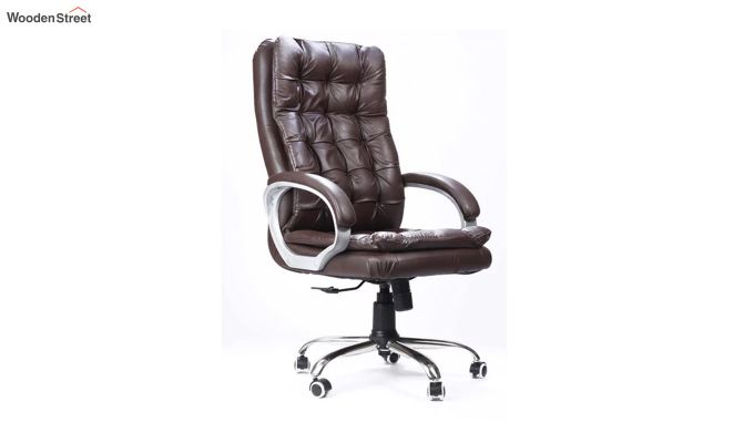 Fairbank Clantra Leatherette High Back Brown Executive Chair-1