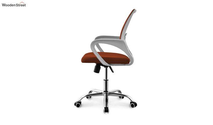 Terra Orange  Mesh Revolving Office Chair-2