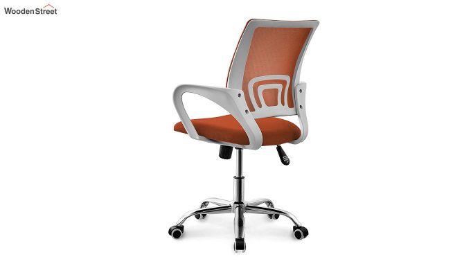 Terra Orange  Mesh Revolving Office Chair-3