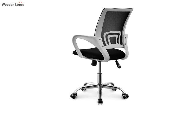 Terra Black Mesh Revolving Office Chair-3