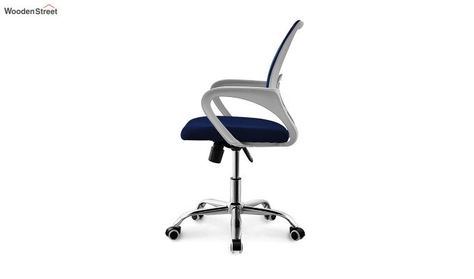 Terra Blue Mesh Revolving Office Chair-4