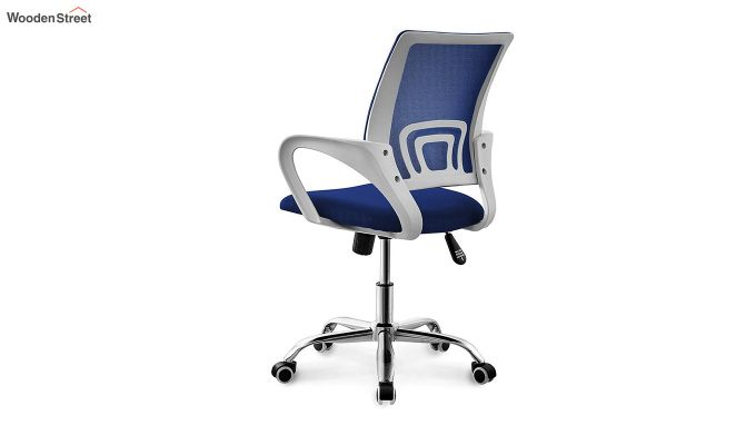 Terra Blue Mesh Revolving Office Chair-3