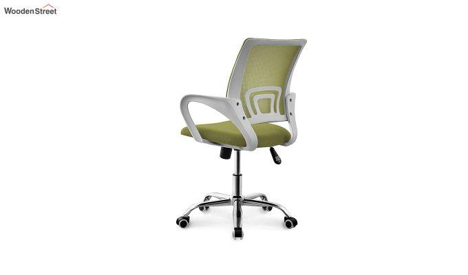 Terra Olive Green Mesh Revolving Office Chair-3