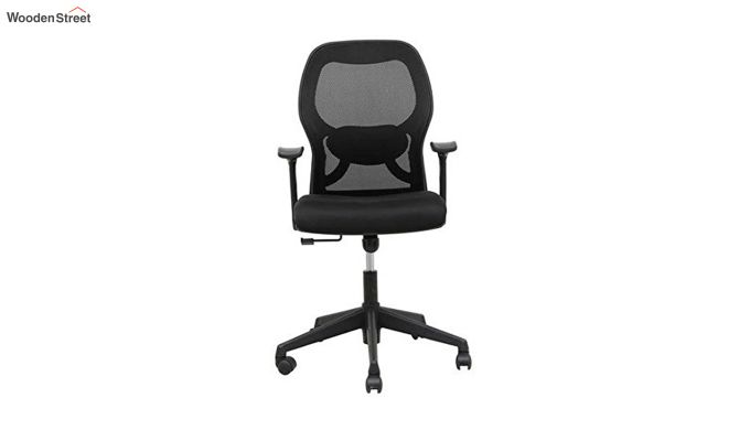 Eric Mid Back Black Ergonomic Office Chair-2