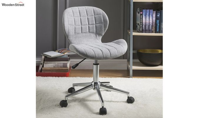 Height-Adjustable Fabric Office Task Chair (Grey)-1