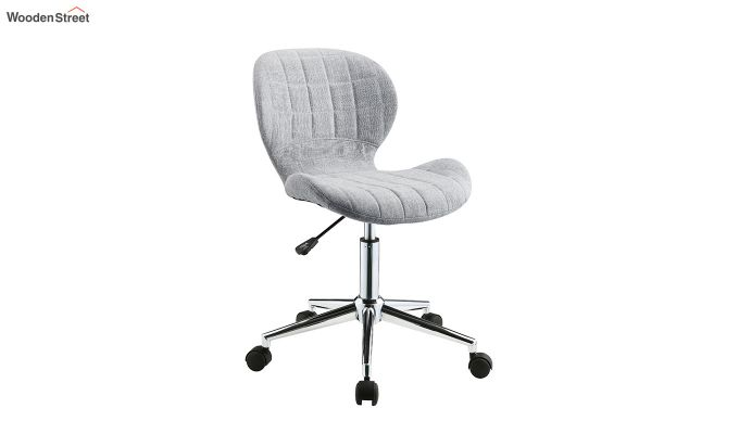 Height-Adjustable Fabric Office Task Chair (Grey)-2