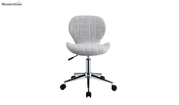 Height-Adjustable Fabric Office Task Chair (Grey)-3