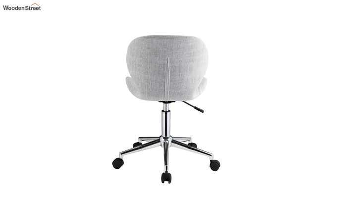 Height-Adjustable Fabric Office Task Chair (Grey)-4