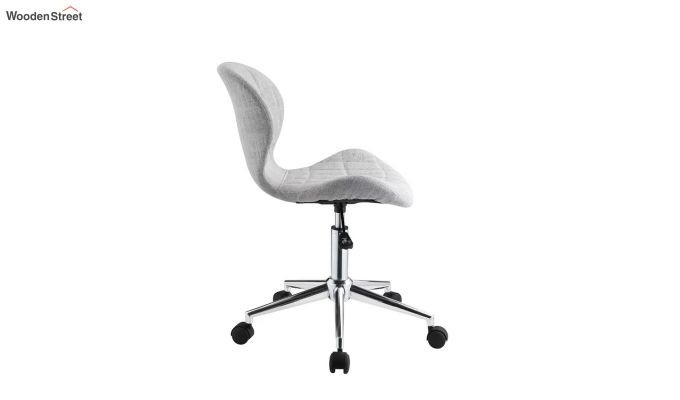Height-Adjustable Fabric Office Task Chair (Grey)-5