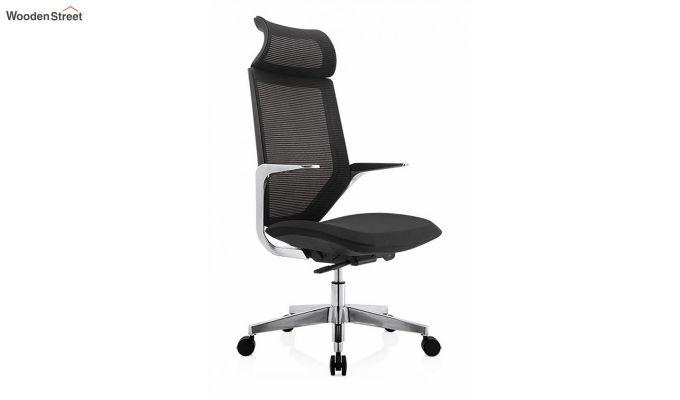 High Back Office Mesh Chair (Black)-1