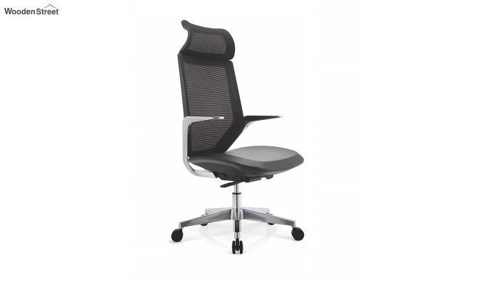 High Back Office Mesh Chair (Black)-4