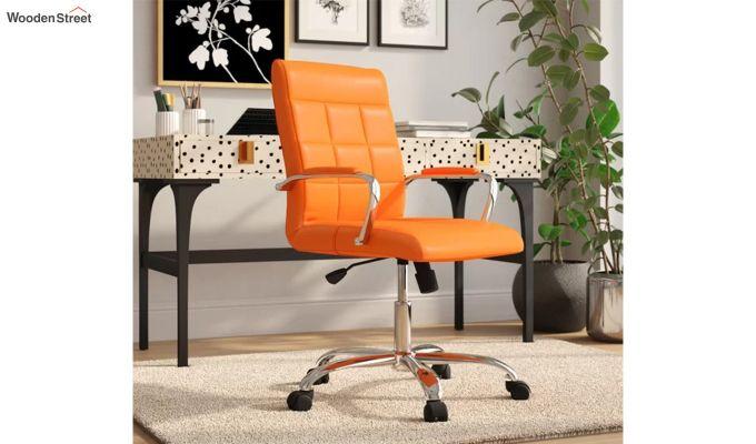 MB PU Leatherette Executive Task Chair (Orange)-1