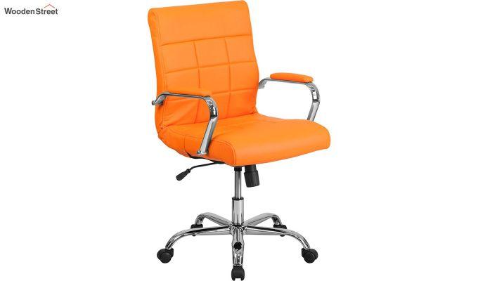 MB PU Leatherette Executive Task Chair (Orange)-2