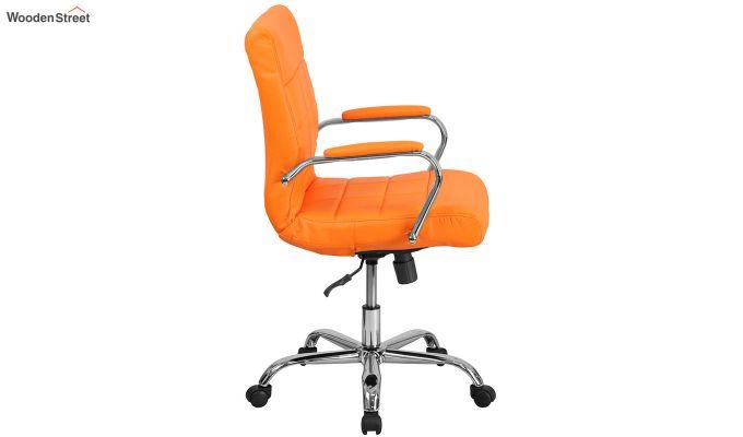 MB PU Leatherette Executive Task Chair (Orange)-3