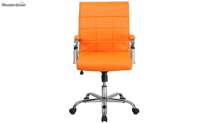 MB PU Leatherette Executive Task Chair (Orange)-4