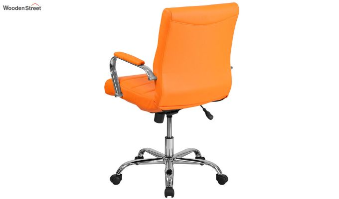MB PU Leatherette Executive Task Chair (Orange)-5