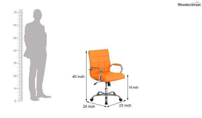 MB PU Leatherette Executive Task Chair (Orange)-6
