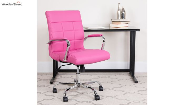 MB PU Leatherette Executive Task Chair (Pink)-1