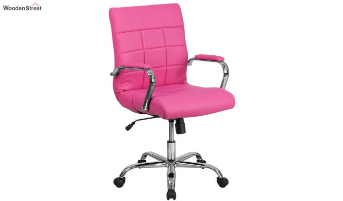 MB PU Leatherette Executive Task Chair (Pink)-2
