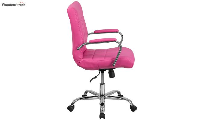 MB PU Leatherette Executive Task Chair (Pink)-3