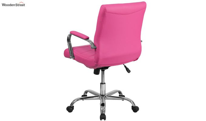 MB PU Leatherette Executive Task Chair (Pink)-4