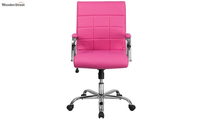 MB PU Leatherette Executive Task Chair (Pink)-5