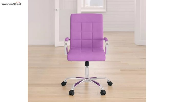 MB PU Leatherette Executive Task Chair (Purple)-5