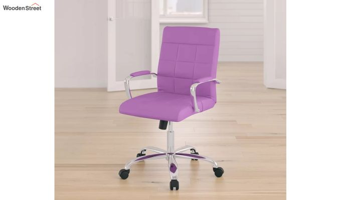 MB PU Leatherette Executive Task Chair (Purple)-6