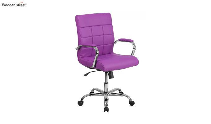 MB PU Leatherette Executive Task Chair (Purple)-7