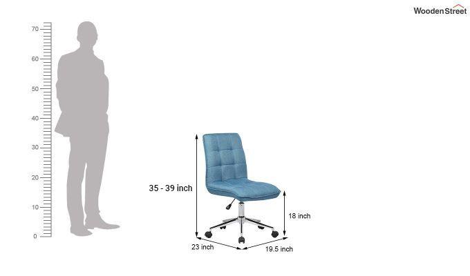 Porthos Home Lada Adjustable Swivel Fabric Office Chair (Blue)-5