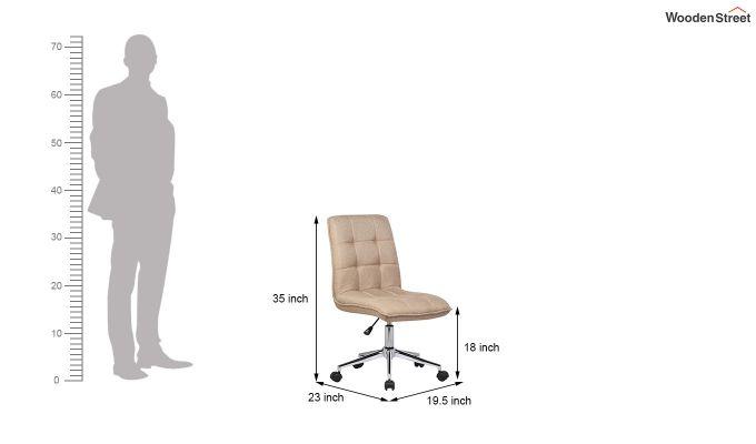 Porthos Home Lada Adjustable Swivel Fabric Office Chair (Brown)-4