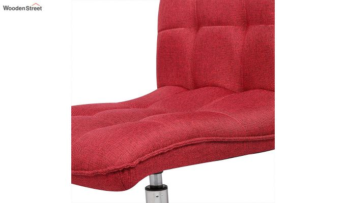 Porthos Home Lada Adjustable Swivel Fabric Office Chair (Red)-2