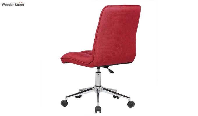 Porthos Home Lada Adjustable Swivel Fabric Office Chair (Red)-3