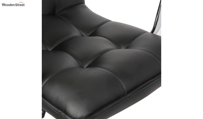 Porthos Home Lada Adjustable Swivel Faux Leather Office Chair With Arms (Black)-5