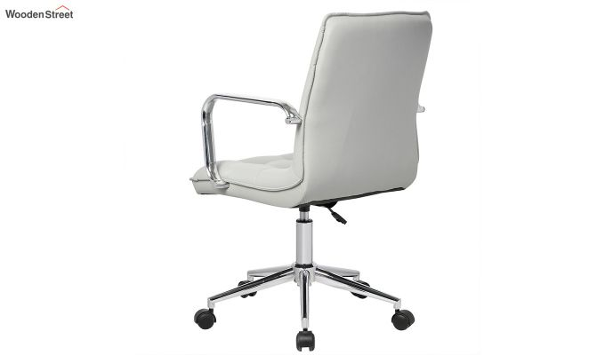 Porthos Home Lada Adjustable Swivel Faux Leather Office Chair With Arms (Grey)-2