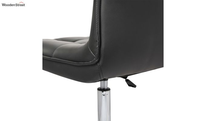 Porthos Home Lada Adjustable Swivel Faux Leather Office Chair (Black)-3