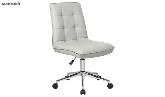 Porthos Home Lada Adjustable Swivel Faux Leather Office Chair (Grey)-1